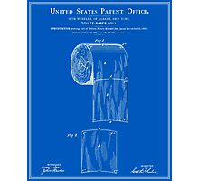 Toilet Paper Roll Patent - Blueprint Photographic Print