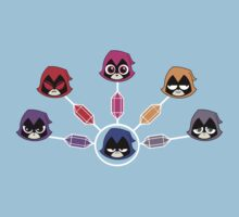 The Many Colors of Raven Vector Kids Tee
