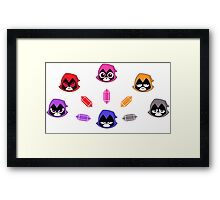 The Many Colors of Raven Vector Framed Print