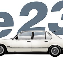 BMW e23 eighties style profile 735i  by hccharnock