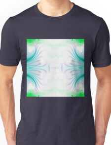 Blue and green abstract pattern background Unisex T-Shirt