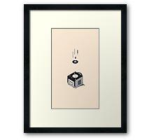 ElectroVideo Gamecube (Black) Framed Print