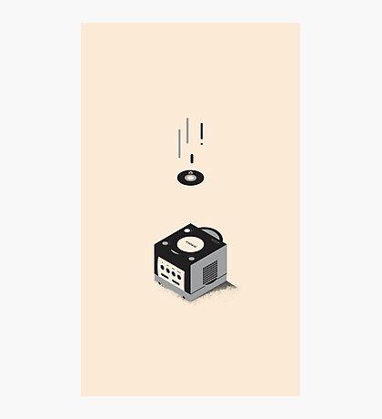 ElectroVideo Gamecube (Black) Photographic Print