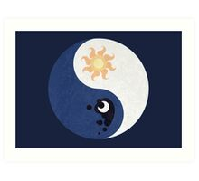 Celestia and Luna Yin Yang Art Print
