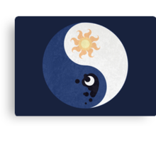 Celestia and Luna Yin Yang Canvas Print