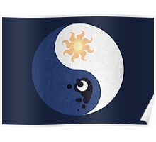Celestia and Luna Yin Yang Poster
