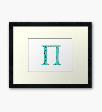Pi PineappleLetter Framed Print