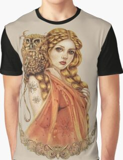 Blodeuwedd Owl Maiden Graphic T-Shirt