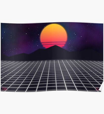 80s Sunset Poster