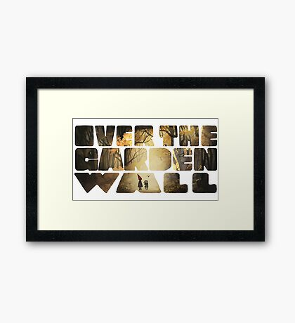 Over the Garden Wall Title Framed Print