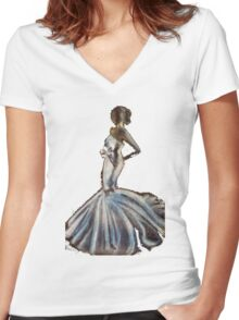 Bride & Bow Women's Fitted V-Neck T-Shirt