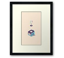 ElectroVideo Gamecube (Blue) Framed Print