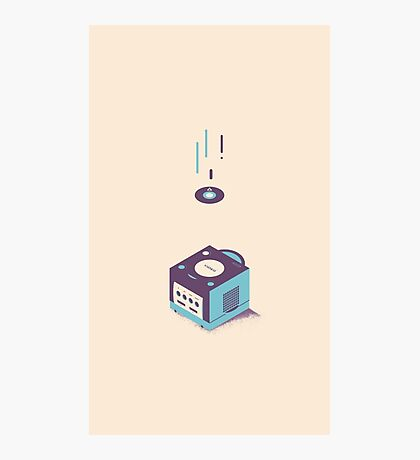 ElectroVideo Gamecube (Blue) Photographic Print