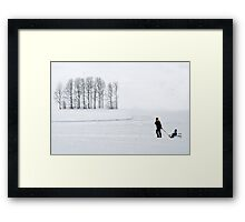 Mother in all weathers Framed Print