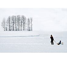Mother in all weathers Photographic Print