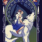 Wolf Princess Nouveau by Stephanie Jayne Whitcomb