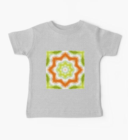 Orange and green abstract pattern Baby Tee