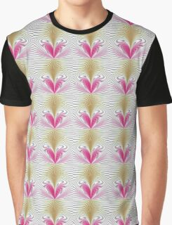 Pink and brown abstract pattern background Graphic T-Shirt