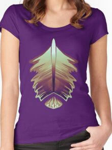 purple sunrise feather and gem Women's Fitted Scoop T-Shirt