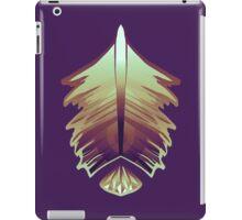 purple sunrise feather and gem iPad Case/Skin