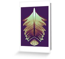 purple sunrise feather and gem Greeting Card