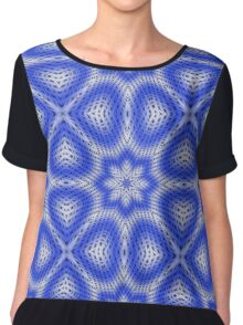 Blue and white abstract pattern background Chiffon Top