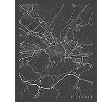 Florence Map, Italy - Gray Photographic Print