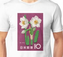 1961 Japan Narcissus Postage Stamp Unisex T-Shirt