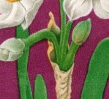 1961 Japan Narcissus Postage Stamp Sticker
