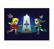 Master Sword in the Stone Art Print