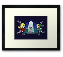 Master Sword in the Stone Framed Print