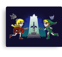 Master Sword in the Stone Canvas Print