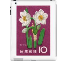 1961 Japan Narcissus Postage Stamp iPad Case/Skin