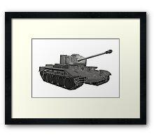 Grey Tank Framed Print
