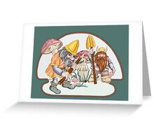 Fearless Mushroom Hunters Greeting Card
