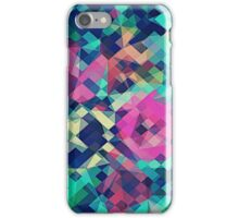 Fruity Rose - Fancy Colorful Abstraction Pattern Design (green pink blue) iPhone Case/Skin