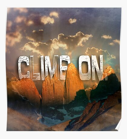 Climb the Mountains Poster