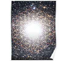 Tree of Life [Orange] | Tight Star Cluster | Sacred Geometry Poster