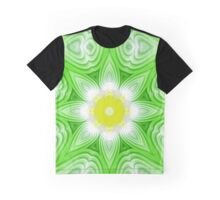 Green and yellow floral background Graphic T-Shirt