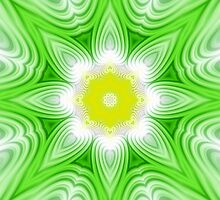 Green and yellow floral background by ikshvaku
