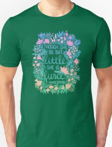 Little & Fierce – Lavender Mint Ombré Unisex T-Shirt