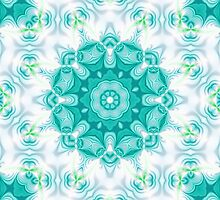 Blue and white abstract pattern background by ikshvaku