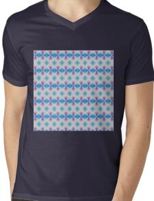 Blue and purple abstract pattern background Mens V-Neck T-Shirt