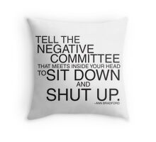 Negative Committee  Throw Pillow