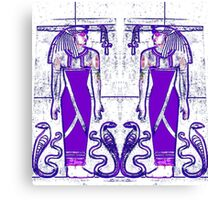 Priests and Cobra White and Purple I  Canvas Print