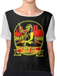 Snake Plissken (Escape from New York) Badge Colour Chiffon Top