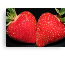 Strawberry Duo Canvas Print