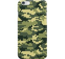 8 Bit Pixel Woodland Camouflage iPhone Case/Skin