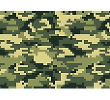 8 Bit Pixel Woodland Camouflage Photographic Print