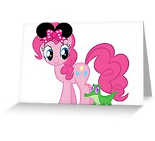 Pinkie pie loves disney Greeting Card